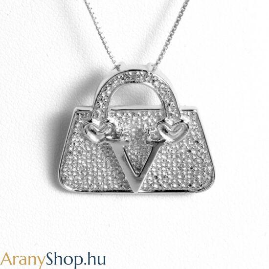 776e1b602 Ezüst táska bross-medál