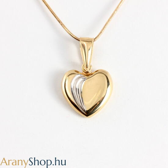 14 karátos arany szív medál