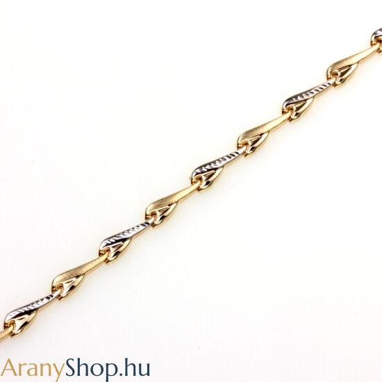 14karátos arany női karkötő