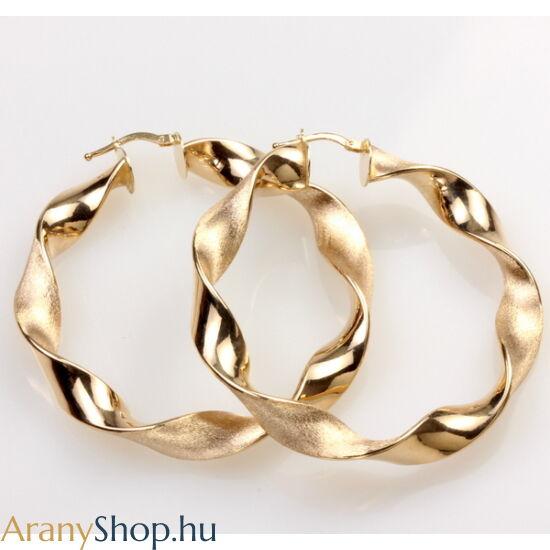 14karátos arany karika fülbevaló