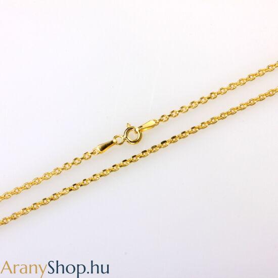 14karátos arany anker nyaklánc