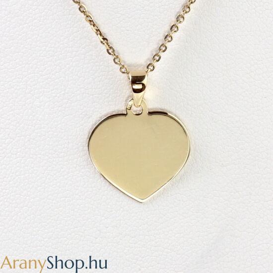 14karátos arany gravírozható szív medál