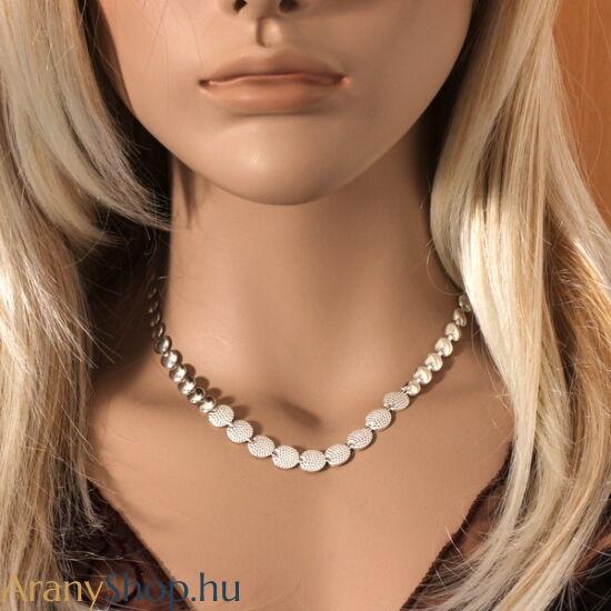 Ezüst préselt női nyaklánc