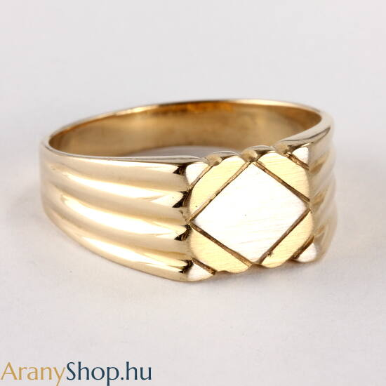 14 karátos arany férfi pecsét gyűrű