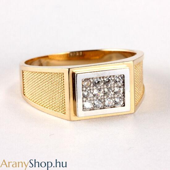 14 karátos arany pecsét gyűrű