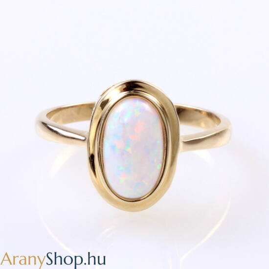 14karátos arany gyűrű opál kővel