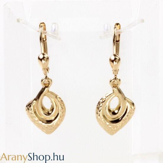 14karátos arany csüngős fülbevaló