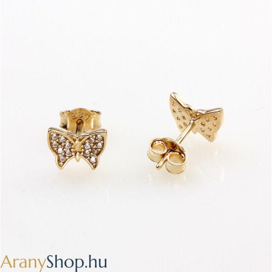14karátos arany stekkeres pillangó fülbevaló
