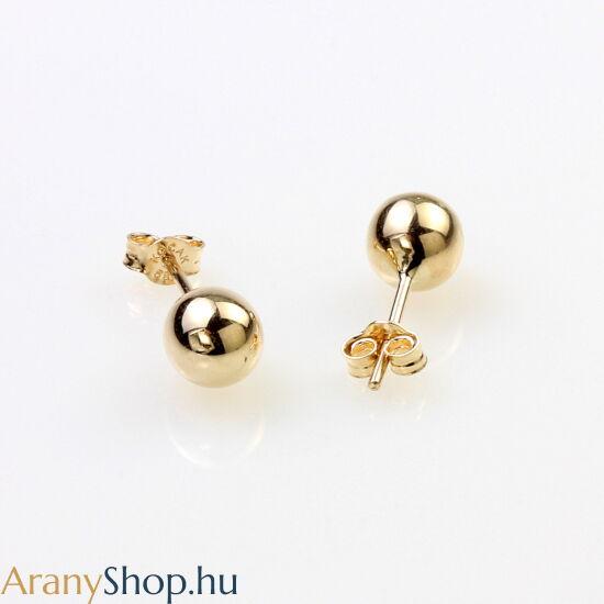 14k arany stekkeres gömb fülbevaló