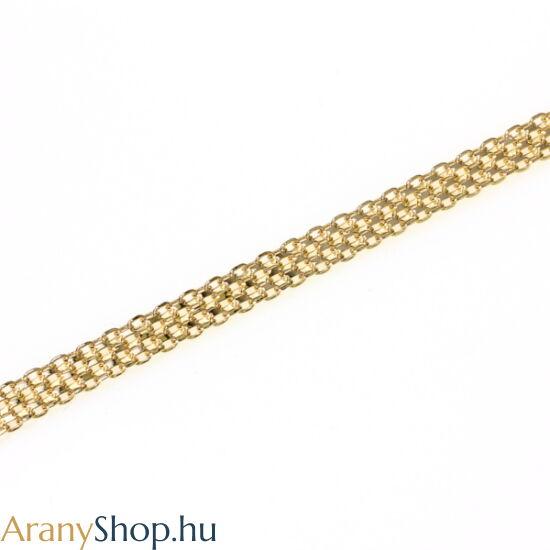 14karátos arany bismark karkötő