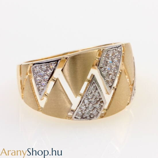 14karátos arany női gyűrű cirkónia kővel