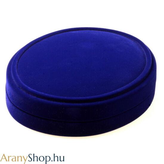 Kék bársony nagy szettes ékszerdoboz
