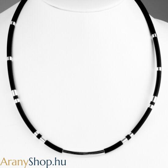 Ezüst kaucsukos nyaklánc