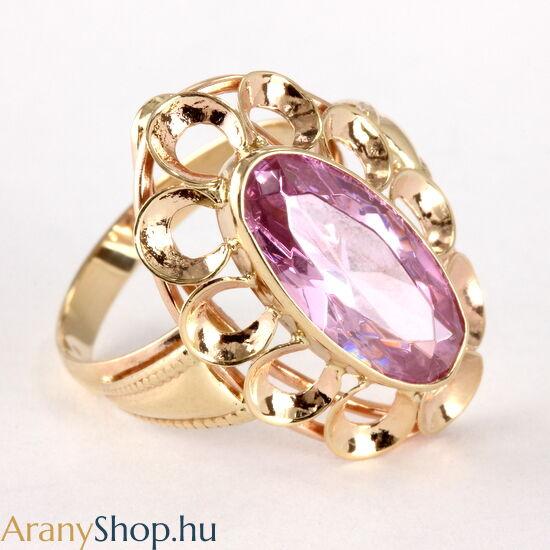 14karátos arany gyűrű cirkónia kővel