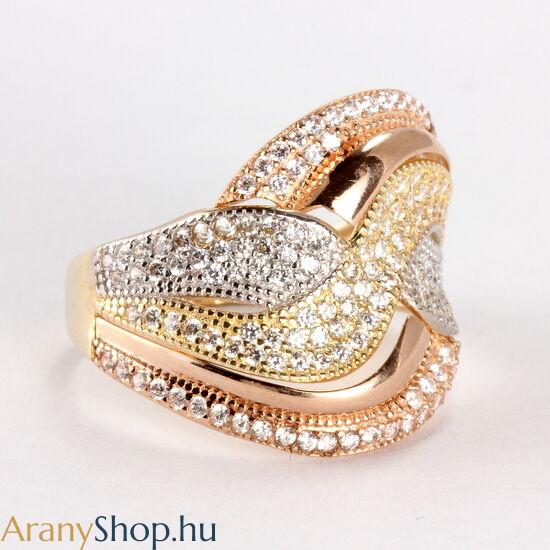 14k arany női gyűrű cikónia kővel