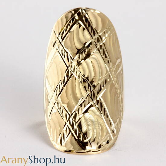 14 karátos arany női gyűrű