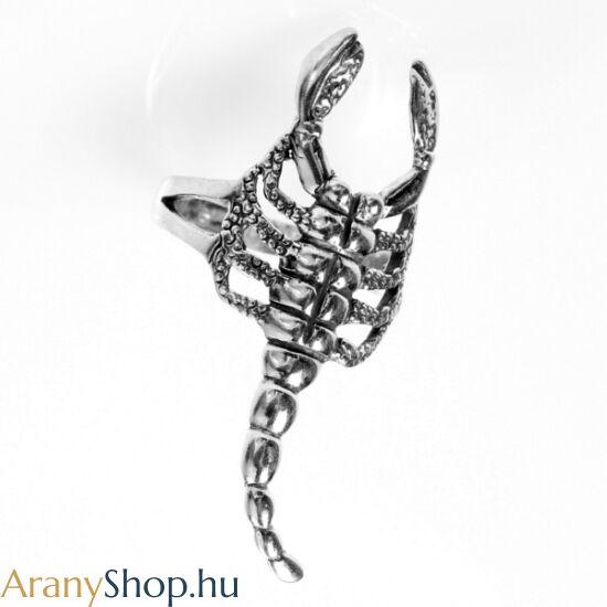 Ezüst antikolt skorpió gyűrű
