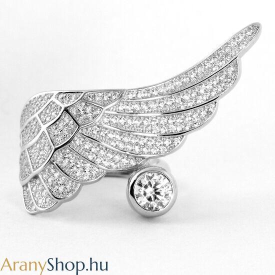 Ezüst angyalszárny gyűrű