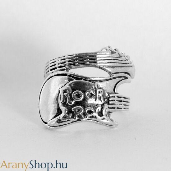 Ezüst gitár gyűrű