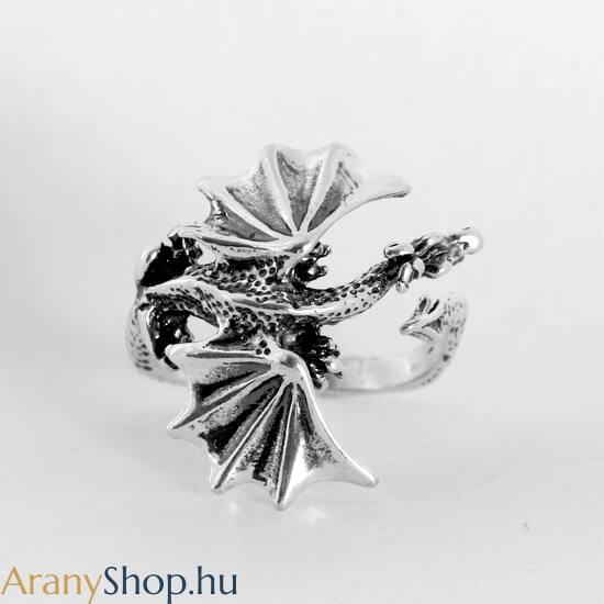 Ezüst sárkány gyűrű