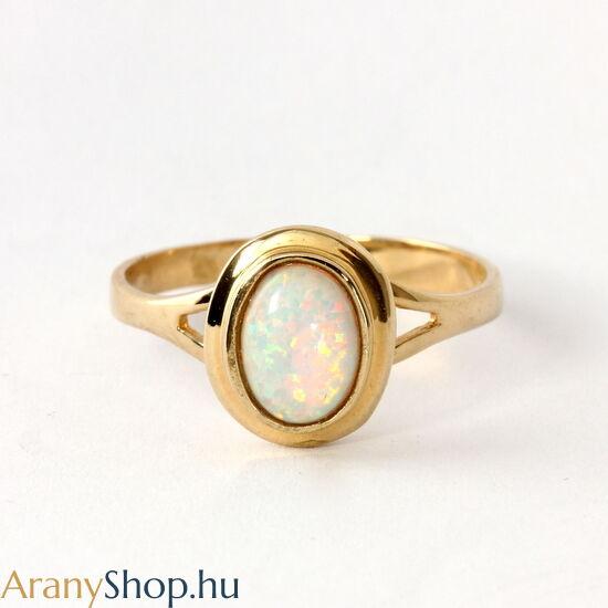 14k arany női gyűrű opál kővel
