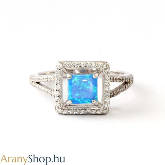 Ezüst gyűrű opál kővel