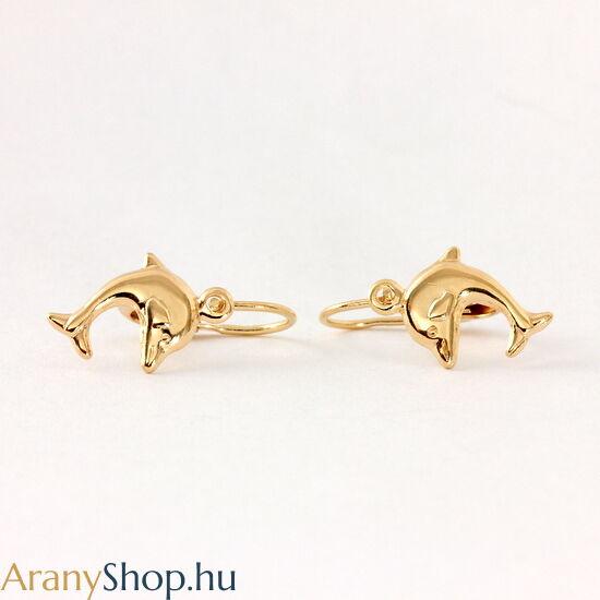 14k arany delfines baba fülbevaló