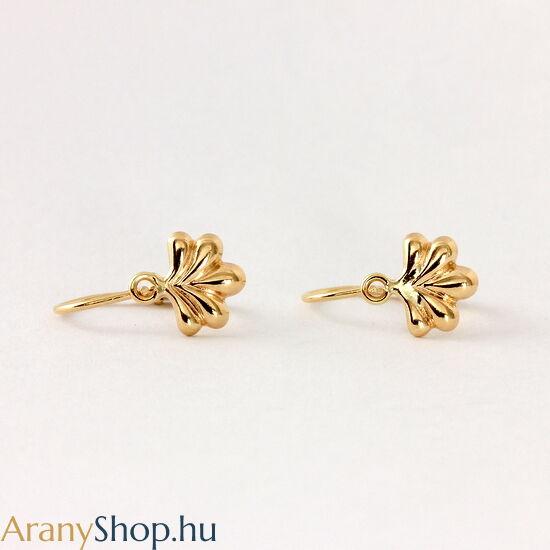 14k arany virágos baba fülbevaló