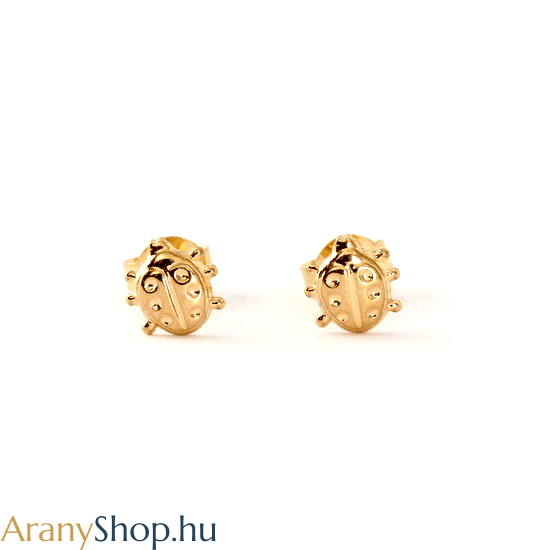 14k arany katicás stekkeres fülbevaló