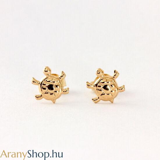14k arany teknős stekkeres fülbevaló