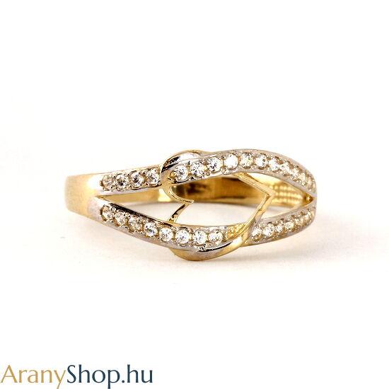 14k arany női gyűrű cirkónia kővel