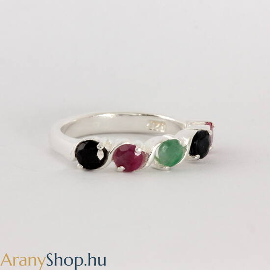 Valódi köves ezüst gyűrű
