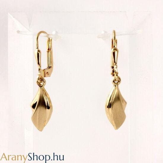 14 karátos arany csüngős fülbevaló