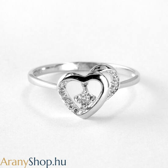 Brill köves 14k arany gyűrű
