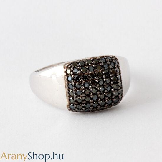 14 karátos fehér arany gyűrű cirkónia kővel