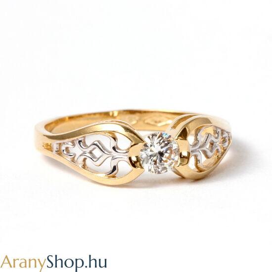 14karátos arany eljegyzési gyűrű