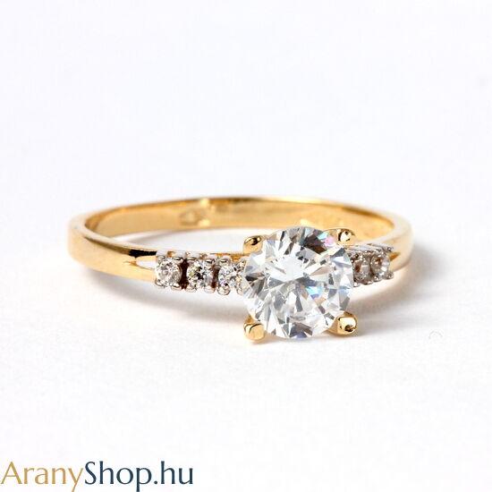 14 karátos arany eljegyzési gyűrű