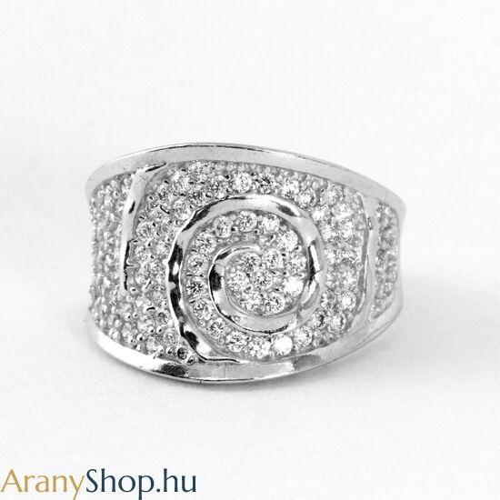 Ezüst gyűrű cirkónia kővel