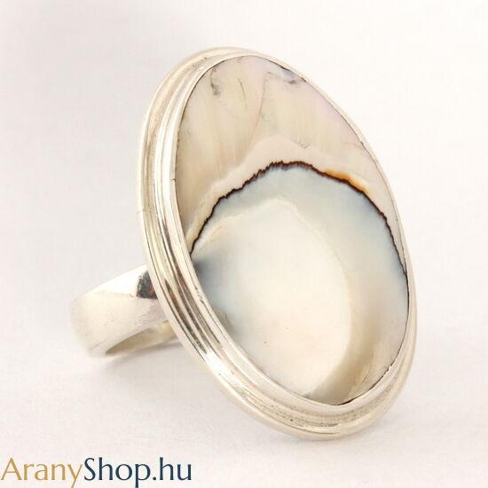 Ezüst gyűrű gyöngyházzal