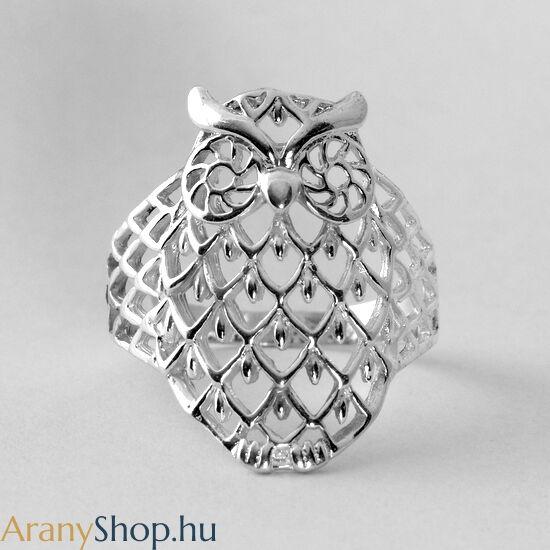 Ezüst bagoly gyűrű