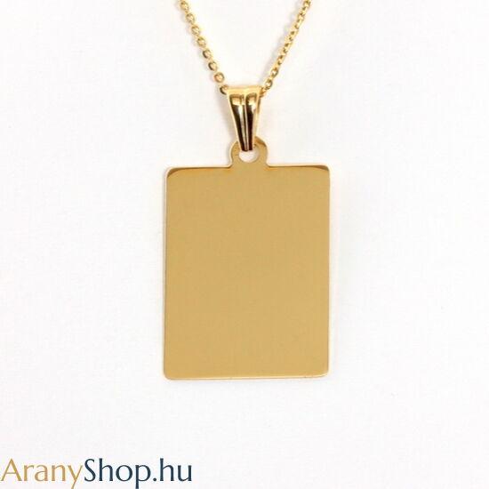 14k arany gravírozható medál