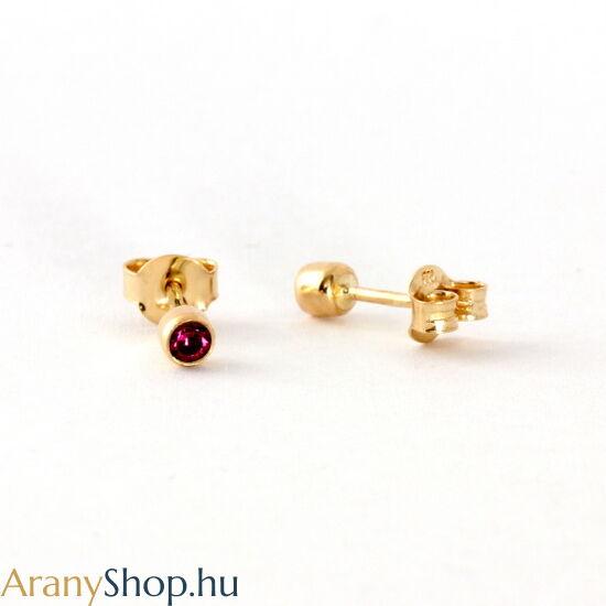 14 karátos arany stekkeres fülbevaló