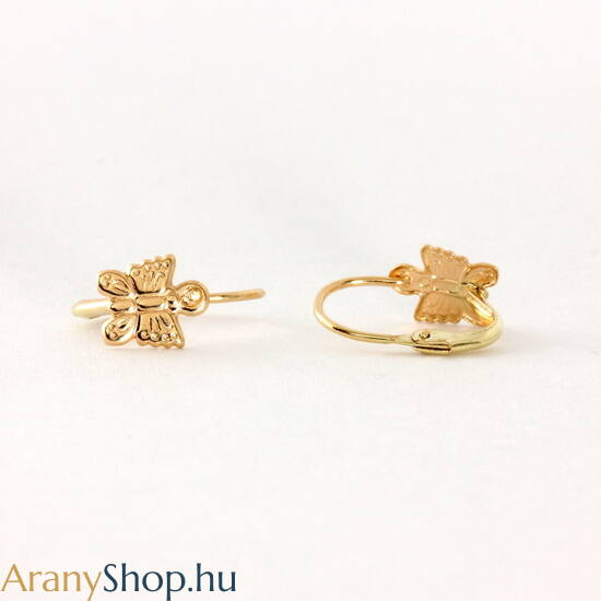 14k arany pillangós baba fülbevaló