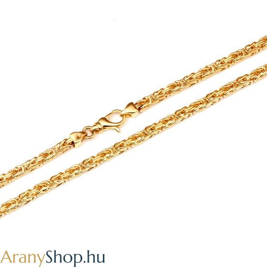 14karátos arany király nyaklánc
