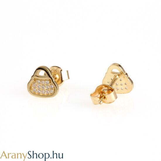 14karátos arany táska fülbevaló