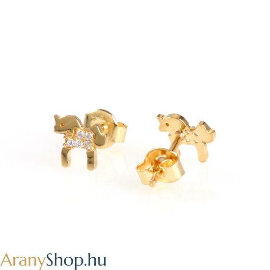 14karátos arany lovas fülbevaló