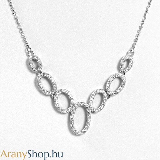 Ezüst nyakék cirkónia kővel
