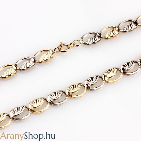 14karátos sárga-fehér arany női nyaklánc