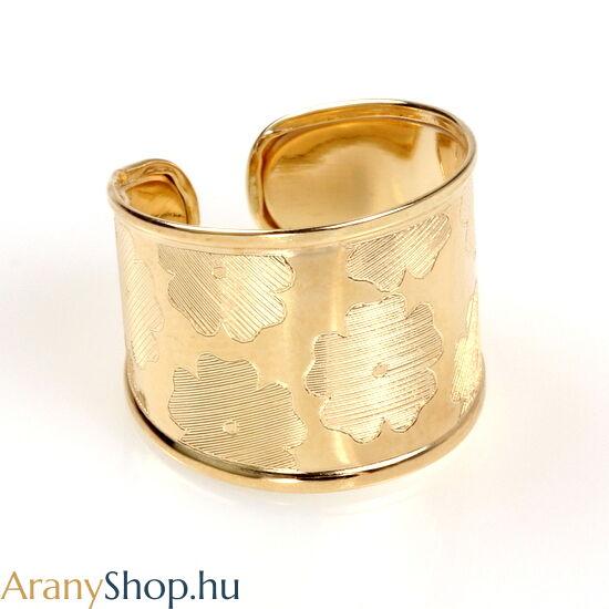 14karátos arany nyitott női gyűrű
