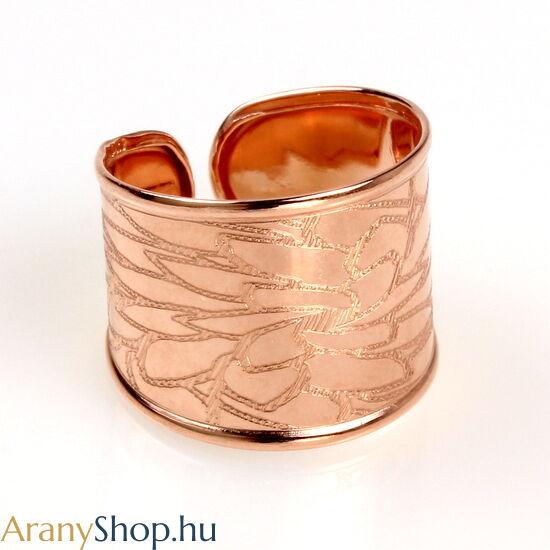 14k rozé arany nyitott női gyűrű